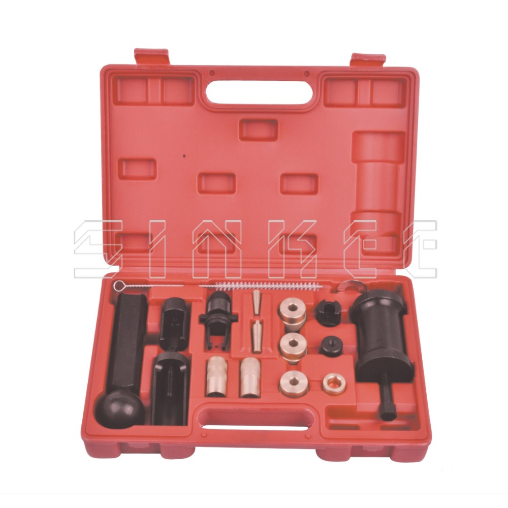 18PC Injector Puller Removal Installer Tool Set For VAG Audi VW Seat Skoda 1.4 1.6 1.8 2.0 V6 V8 FSI Petrol SK1200 engine diesel injector puller set removal garage tool for vag tdi vw audi