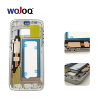 WOJOQ Original Middle Frame For Samsung S7 G930 G930F Mid Bezel Metal Frame Housing Chassis With