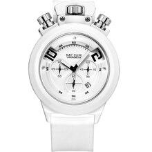 Relogio masculino Hombres de la Marca de deporte militar reloj de Los Hombres Correa de Cuero de Cuarzo relojes Hombre Reloj Impermeable