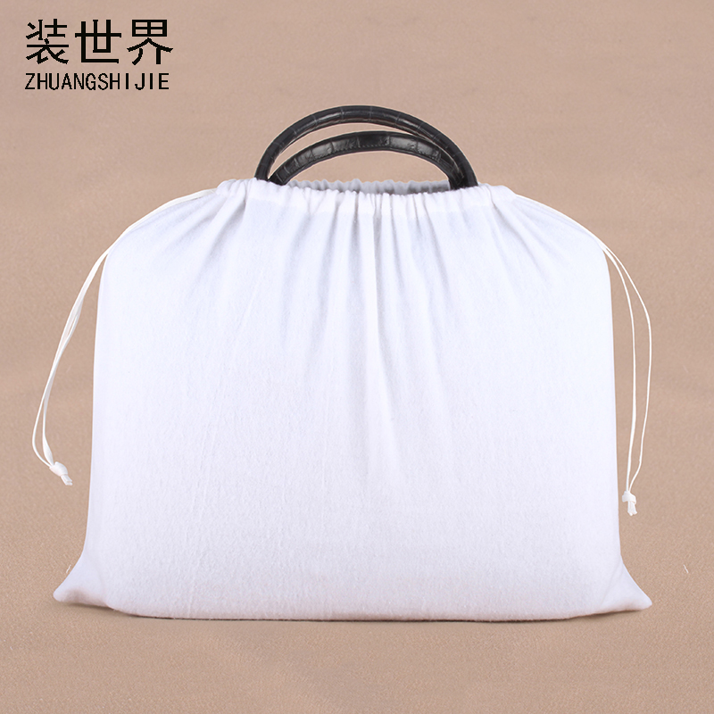 45*49cm High Quality Cotton Pouch Logo Printed Drawstring Bags Clothing Bags' Dust-proof Packaging Handbag Bags