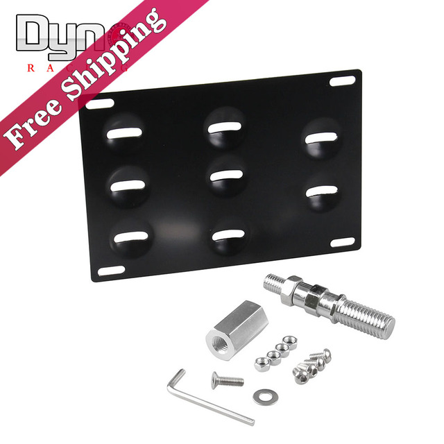 dyno racing - License Plate Holder Mount Tow Hook Bracket License Plate Relocator Frame For Japanese cars