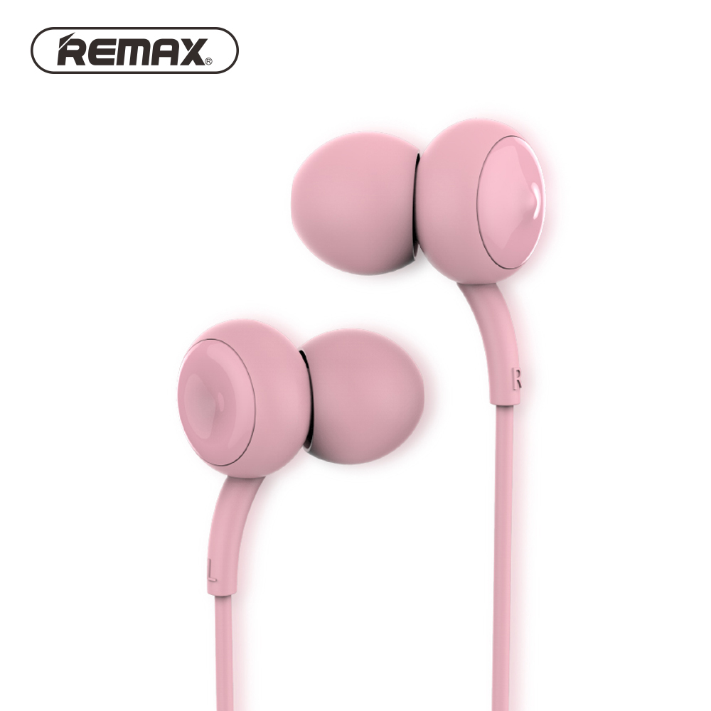 REMAX Music Clear Wired In-ear Earphones with Mic Super Bass Stereo Noise Isolating Earbuds Comfort Headsets for Mobile Phone/pc 195hb wireless bluetooth mini headphones super bass headsets stereo sports over ear hifi earphones earbuds with mic for remax