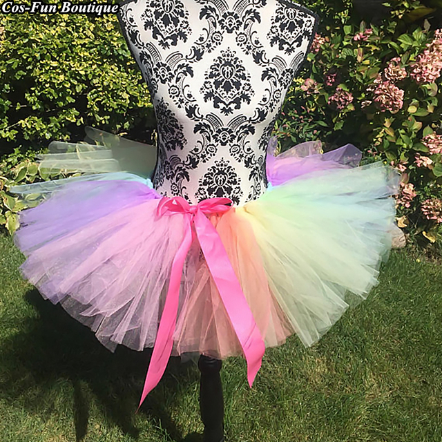 e620d87b1dae0 Unicorn Bustle Adult Tutu Skirt With Trailing Four Seasons Women Outfit  Beach Birthday Party Pretty Skirt One Size 35cm 2018