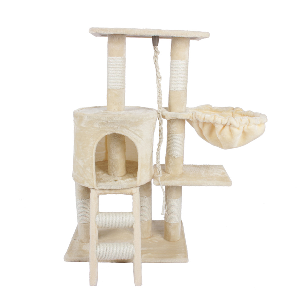 Cat Jumping Toy With Ladder Scratching Wood Climbing Tree For Cat Climbing Frame Cat Furniture Scratching Post