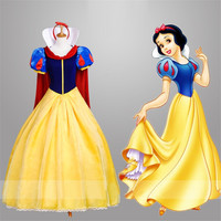 Adult Snow White Fancy Dress For Women Halloween Cosplay Costume Princess Fairytale Snow White Halloween