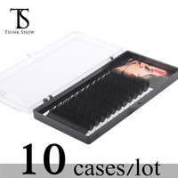 Thinkshow Individual Eyelash Extension Handmade Synthetic Mink Eyelashes Extension Supplies 10Pcs/Lot Eye Lashes Makeup Tool