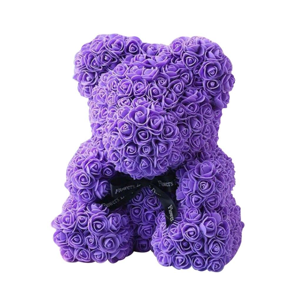 DIY розовый медведь наборы пены розовый медведь плесень Свадебная вечеринка украшения подруга юбилей день Святого Валентина подарок - Цвет: purple