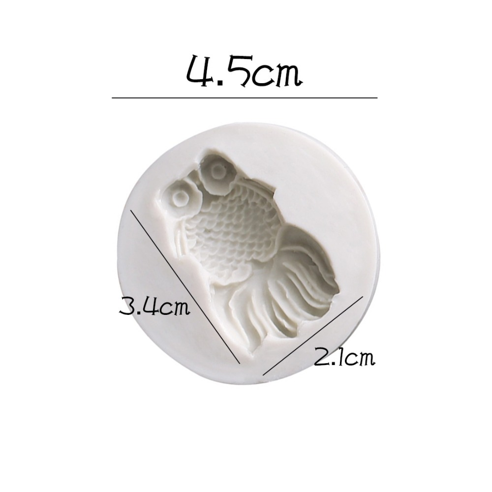 Goldfish shape silicone mold for cake fish style chocolate fondant molds for cake baking animal cupcake decoration tools form in Cake Molds from Home Garden