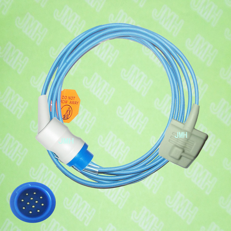Compatible With Biolight M7000, M9000,M9500 Pulse Oximeter Monitor , Adult Silicone Soft Tip Spo2 Sensor.12pin.