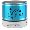 2017 New led Bluetooth Speaker Carve I Love You TF USB Wireless Portable For iphone with Mic Led Light S41