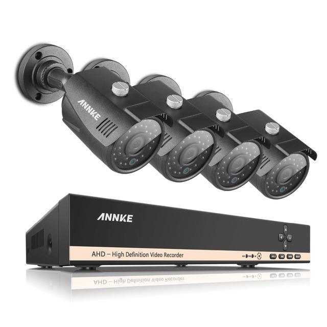 Annke sistema de cctv 8ch 960 p 1.3mp ahd dvr 4 pcs ir à prova de intempéries ao ar livre câmera de segurança em casa sistema de vigilância kits alerta de e-mail