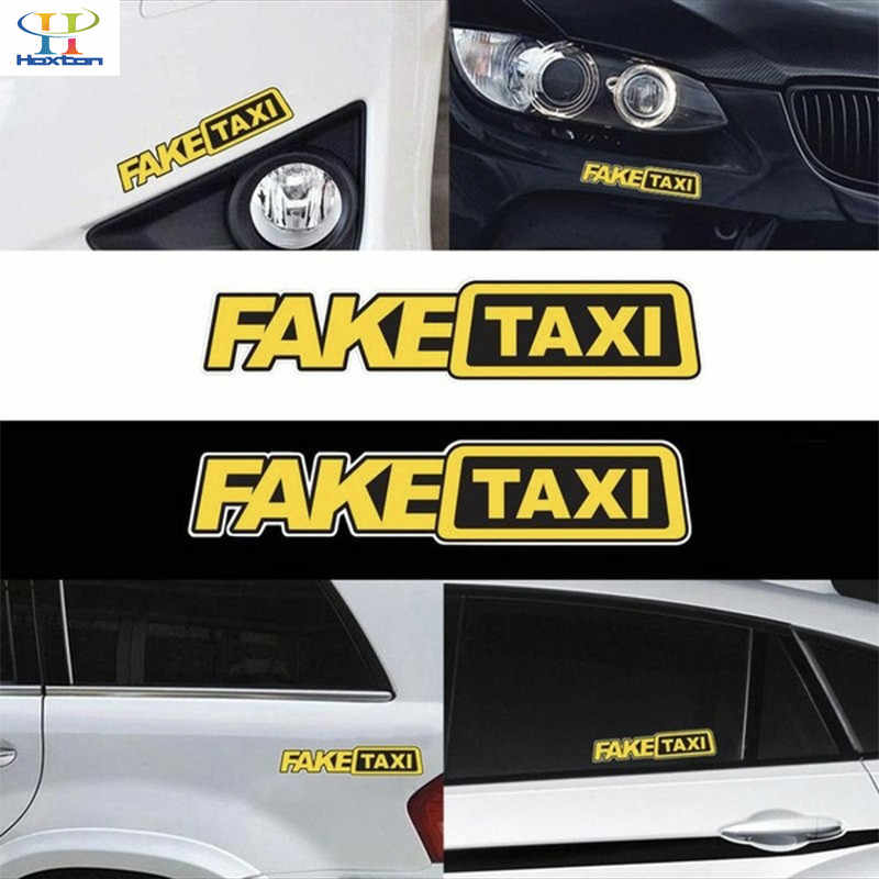 Funny FAKE TAXI Letter Car Sticker Drifting Race Auto Vehicle Decal Decoration