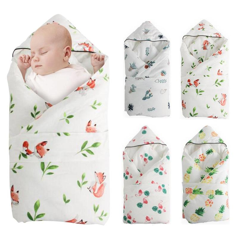 1pc floral baby quilted blanket plant pattern newborns quilts pineapple pattern blanket winter cotton prints baby sleeping D5