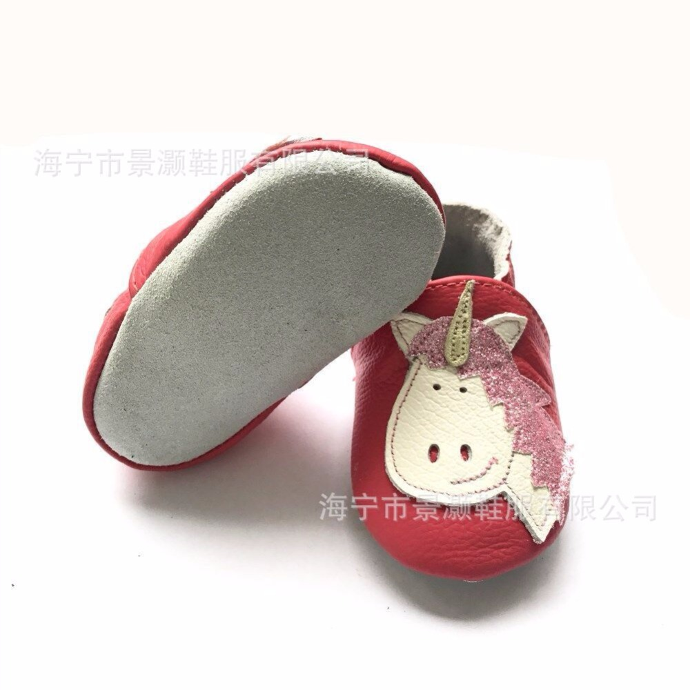 Cow leather Cartoon animals style baby moccasins nonslip 2018 first walker shoes newborn baby girls boys crib shoes 0-24M