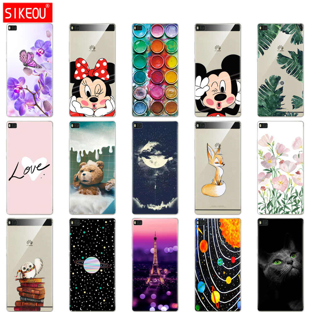 Silicone phone Case For P8 lite cover for catdas Huawei P8 lite case 2015 2016 silicone soft coque for Huawei P8 lite cases