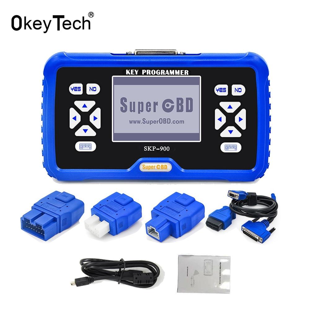 OkeyTech OBD SKP900 SKP-900 Auto Carro Inteligente Chave Programador V5.0 inglês Versão Mais Recente Suporte Quase Todos Os Carros para a Toyota G Chip