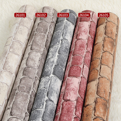 Faux stone brick wall 3D wallpaper roll modern vintage wall paper pvc vinyl Wall covering for bedroom and live room Background beibehang stone brick 3d wallpaper roll modern vintage wall paper pvc vinyl wall covering for bedroom live room tv background