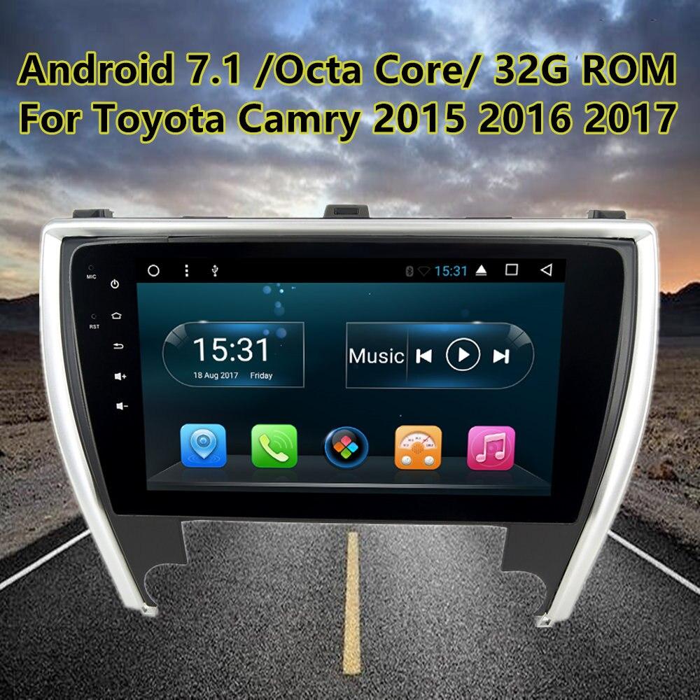 10,1 Octa Core Android7.1 автомобиля радио gps стерео для Toyota Camry 2015 2016 2017 авто навигации мультимедийный плеер головного устройства 2 грамма