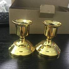 2 pcs Silver/Gold Plated Candle Holder Sticker Candles Holder For Candles Fake Tapers Christmas Party Decors Free Ship