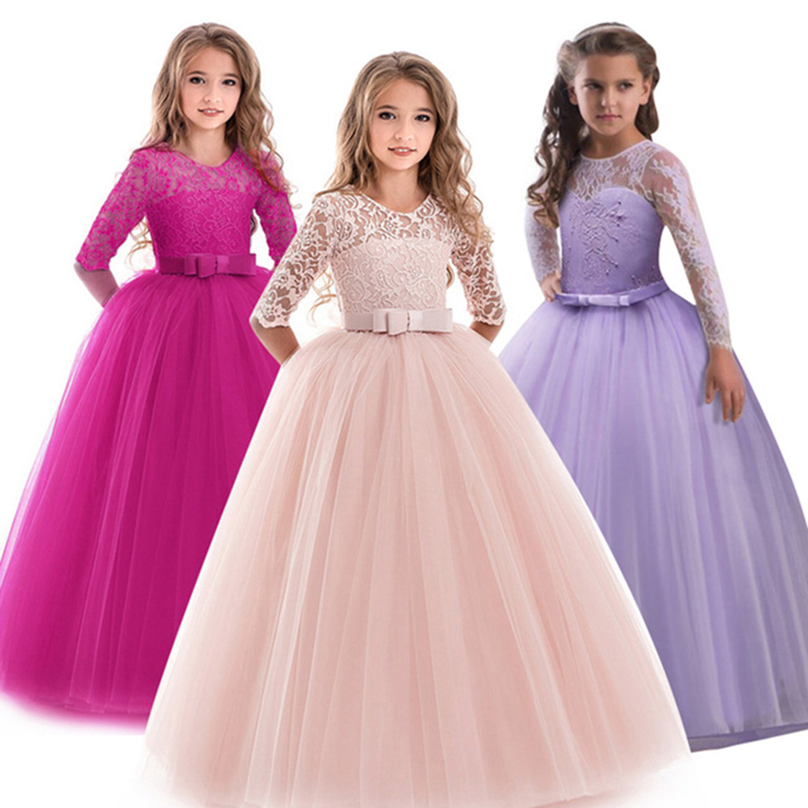 Children Gowns For Wedding: Party Kids Dresses For Girl Clothes 2019 Summer Girls