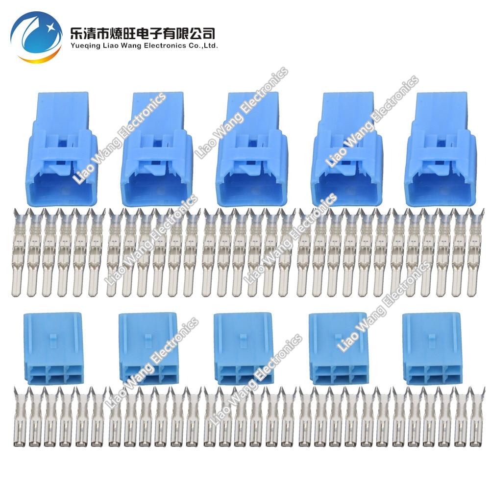 5 Conjuntos de 6 Pinos de plástico peças do carro conector DJY7067-2.3-11/21 conector do Plugin
