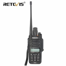 IP67 Walkie Talkie Retevis RT6 Waterdicht anti-stof 5/3 / 1W Dual-Band VHF + UHF Draagbare Radio VOX LED Zaklamp HF Radio In RU