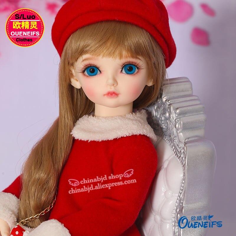 OUENEIFS free shipping Fashion <font><b>Dress</b></font> <font><b>Tory</b></font> burch Shoes Hat or Xmas hat 1/4 bjd sd doll clothes YF4-157 Pink Yellow Red for choose