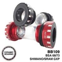 ZTTO BB109 CERAMIC Bearing Bicycle Bottom Bracket MTB Road Bike BSA 68/73 compatible for Shimano SRAM GXP Crankset