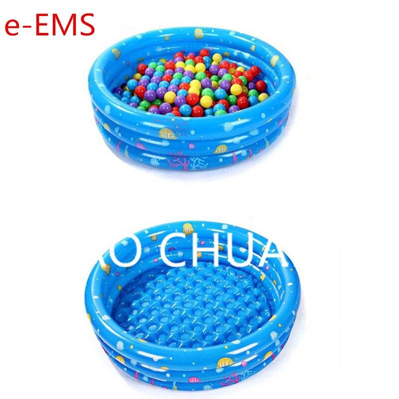 3 цвета Детский бассейн Творческий надувные три кольца круглого Ванна ведро ПВХ утолщаются повышение Рыбалка Пруд G957