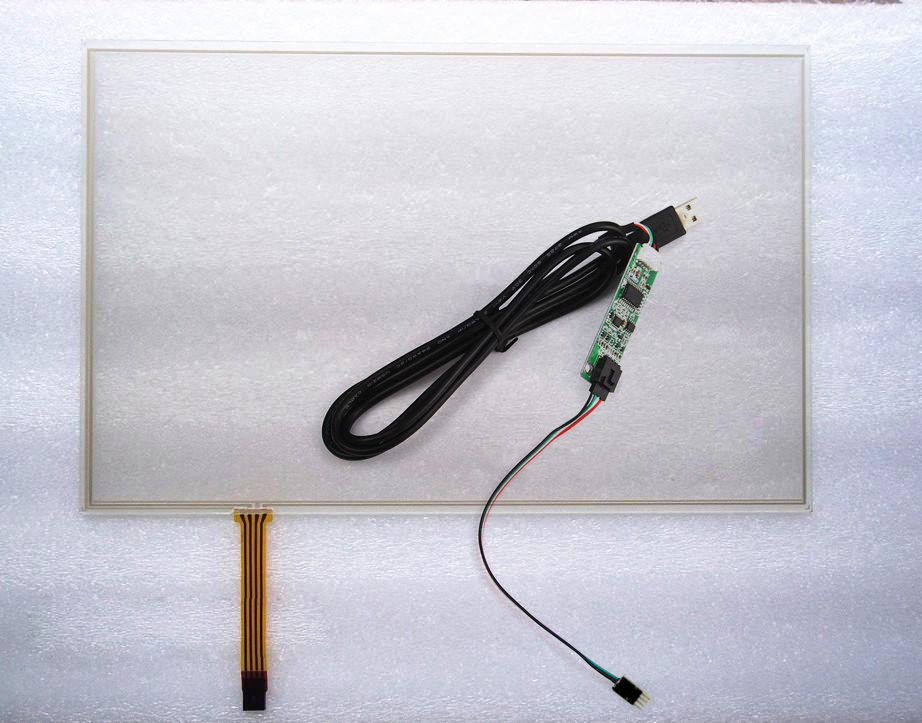 New USB port Controller Card+15.4 Inch  16:10  4 Wire Resistive Touch Screen Panel Glass 344mm*222mm 344*223mm new10 4 inch 4wire resistive touch screen panel for ht104a nd0a152 ht104a 223 172mm touch panel glass