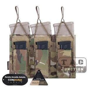 Image 2 - حقيبة إيمرسون التكتيكية الثلاثية المفتوحة 5.56 & مسدس مجلة الحقيبة ايمرسونجير مول/PALS ماج الحقيبة الحافظة الناقل Airsoft العسكرية