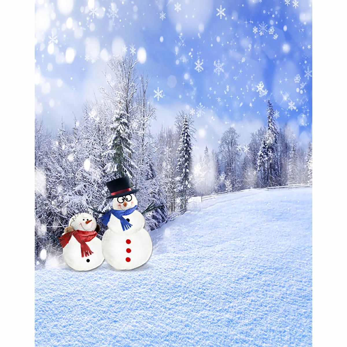 New Christmas backgrounds for christmas photo studio Snowman snow ...