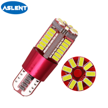 Aslent T10 W5W 194 White ice blue red yellow Canbus Error Free Car Bulb LED Light Interior Read Auto lamps 3014 SMD 57 Chips 12V