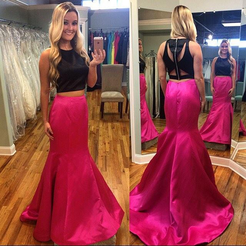 Popular Hot Pink and Black Prom Dresses-Buy Cheap Hot Pink and ...