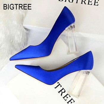 6d645519978f BIGTREE/Новинка; женские пикантные туфли-лодочки на высоком каблуке;  пикантная ...