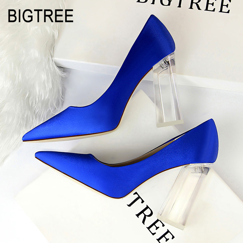 BIGTREE New Women High Heels Sexy Women Pumps Sexy Women Shoes Fashion Wedding Shoes Party Shoes Office Shoes Plus Size 35-43