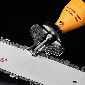 Kit de afilado de motosierra, conjunto de accesorios de pulido y afilado con amoladora eléctrica, herramienta de cadenas TI99