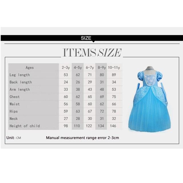 Ellies Bridal 2018Beautiful Cinderella Girl Princess Dress Toddler Blue  Party Costume Dress-Up Halloween Fancy Dress Snow Queen b57f13570523