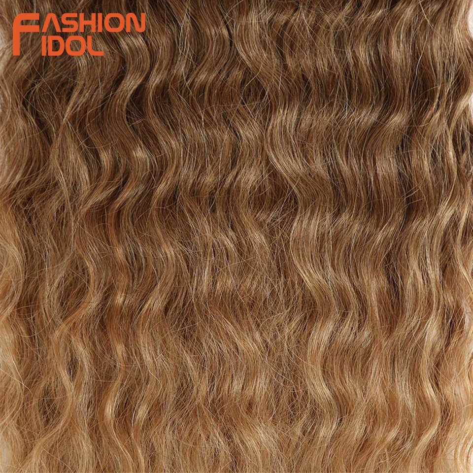 """Мода IDOL свободные глубокие пучки волнистых волос для наращивания пучки волос """"омбре"""" 28-32 дюймов 120 г супер длинные волосы синтетические Кудрявые Волнистые Волосы"""