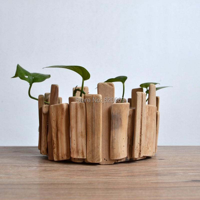 Large size wooden planter hand made house decoration - Macetas de madera ...