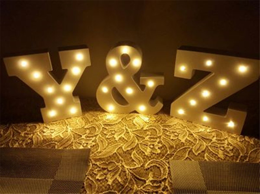 Marquee Letters Verlichting : 15 cm wit houten brief led nachtlampje marquee teken alfabet light