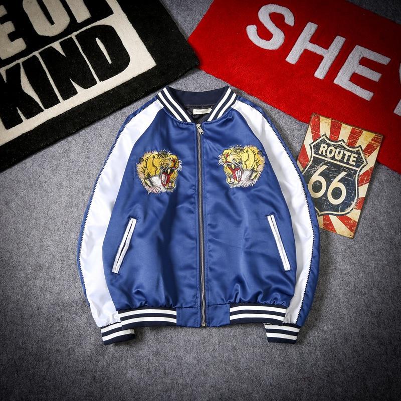 3 Taille xxl colr color Hop S Tigre Bomber Broderie Baseball Veste Hommes Streetwear 1 Hip Us Color 2 fCST8Ux