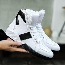 Hemmyi теплые Для мужчин Зимние ботильоны модные Sapatos мужской Повседневное Спортивная обувь Обувь черный/белый Снегоступы Tenis masculino adulto