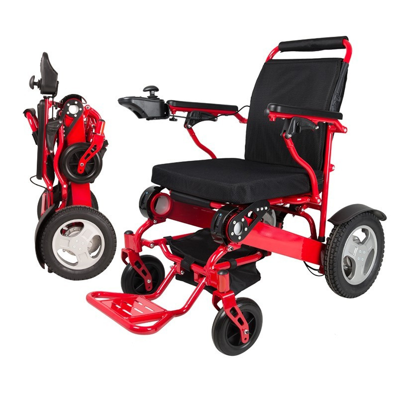 Free shipping capacity 180kg Aircraft font b wheelchair b font lithium battery lightweight folding power electric