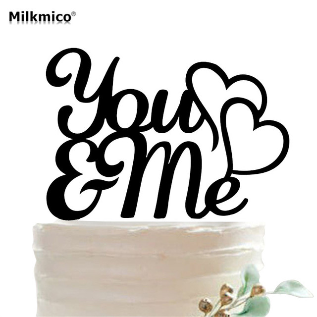 You Me Lovers Acrylic Cake Toppers Wedding Anniversary Cake Stand