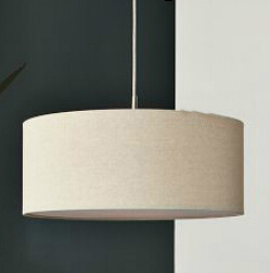 Modern Cloth Pendant Light With White Round Fabric Lamp Shade In 3 Source Fixtures 110v