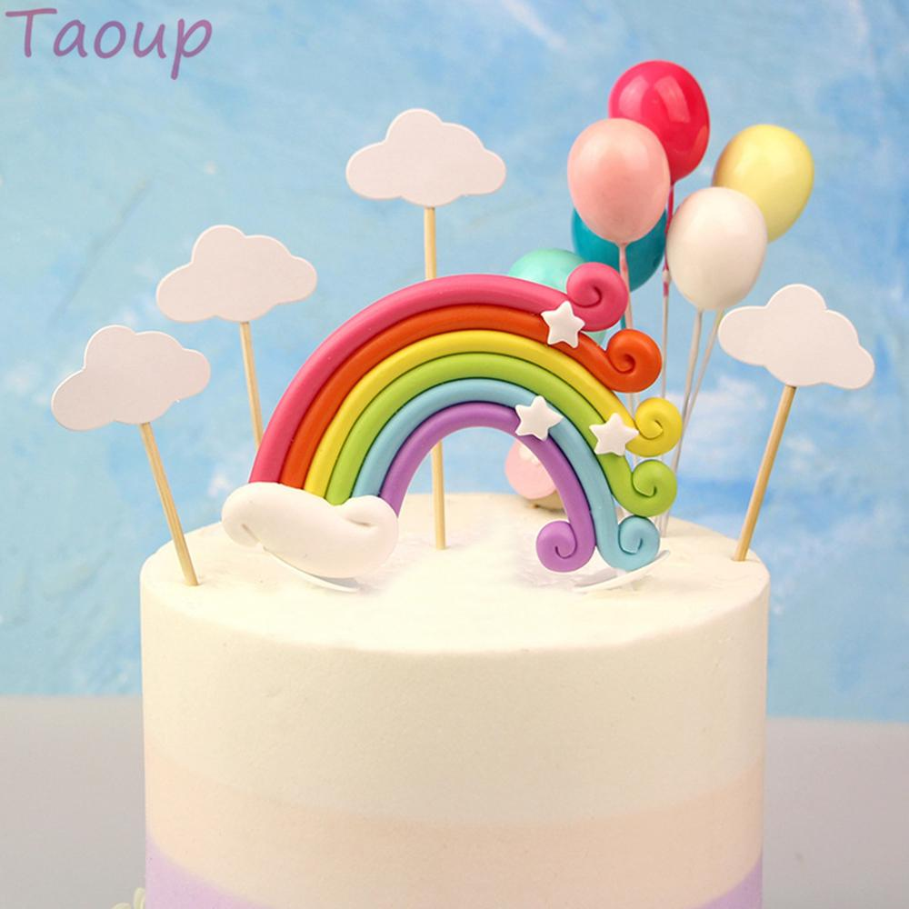 TAOUP Wedding Babyshower Unicorn Cake Topper Wedding Decor for Cake Decorating Supplies Unicorn Birthday Party Decor Unicornio in Cake Decorating Supplies from Home Garden