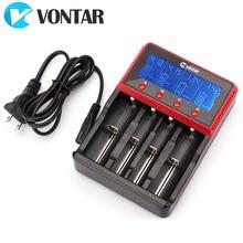 Vontar Smart Lcd Usb Batterij Lader Smart Voor 26650 18650 18500 18350 17670 16340 14500 10440 Lithium Batterij 3.7V