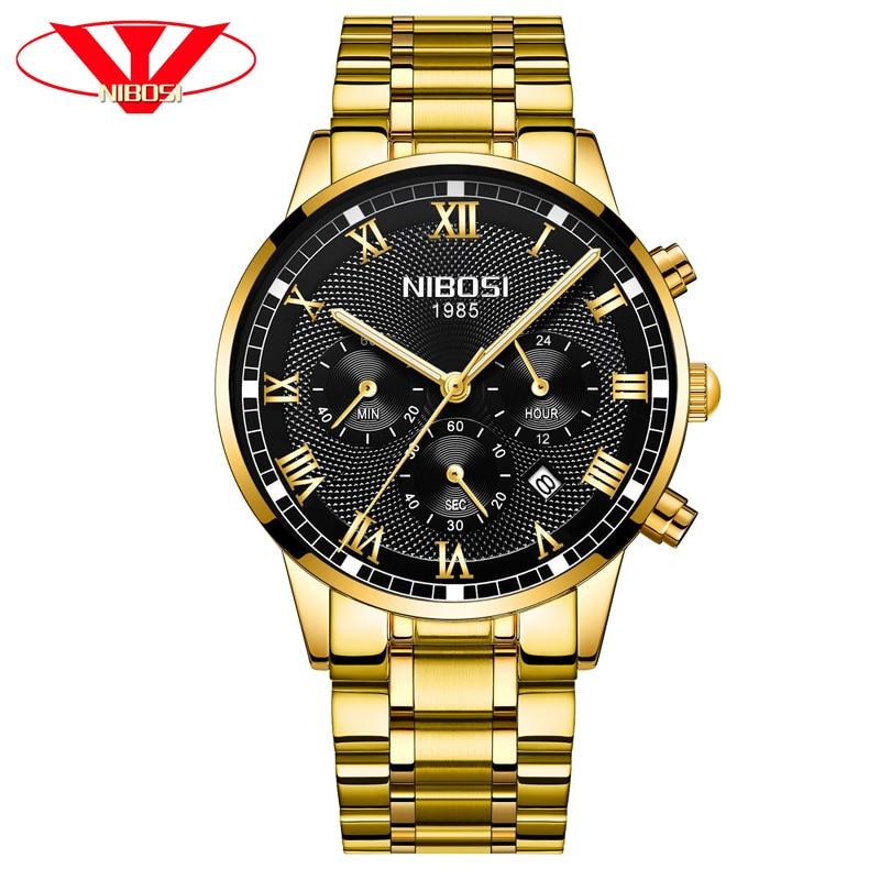 NIBOSI 2019 New Men Watch Waterproof Top Brand Luxury Quartz Watch Men's Sports Fashion Casual Business Watch Relogio Masculino