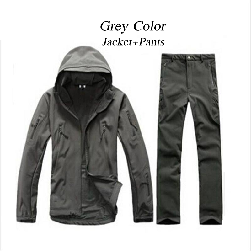 New TAD Sharkskin Jacket Sets Camouflage Military Tactical Softshell Jacket Men Women Army Jackets And Pants Outerwear Clothes tad tactical shark skin children softshell jacket kids army clothes acu camouflage military tactical waterproof jackets